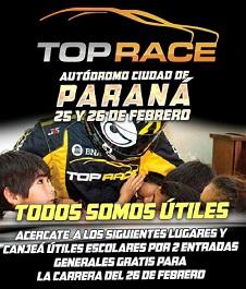 Canjeá útiles escolares por dos entradas para presenciar el Top Race en Paraná
