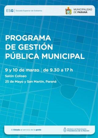 Jornadas de capacitación del Programa de Gestión Pública Municipal