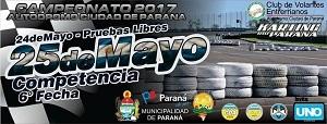 La sexta fecha del Karting Río Paraná se corre el 25 de mayo