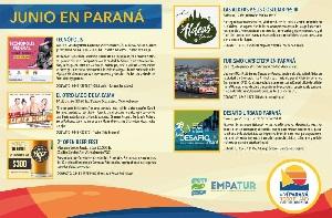 Junio suma atracciones culturales, deportivas y recreativas en Paraná