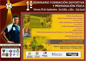 1° Seminario de formación deportiva y preparación física