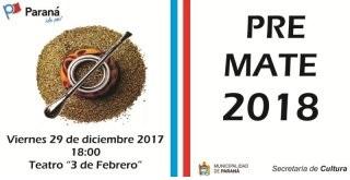 Comienza la inscripción para participar del Pre Mate 2018