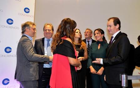Bordet participó de la cena anual que organiza la asociación Conciencia