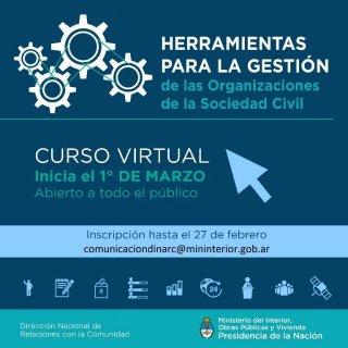 Curso virtual sobre herramientas para la gestión de las organizaciones de la sociedad civil